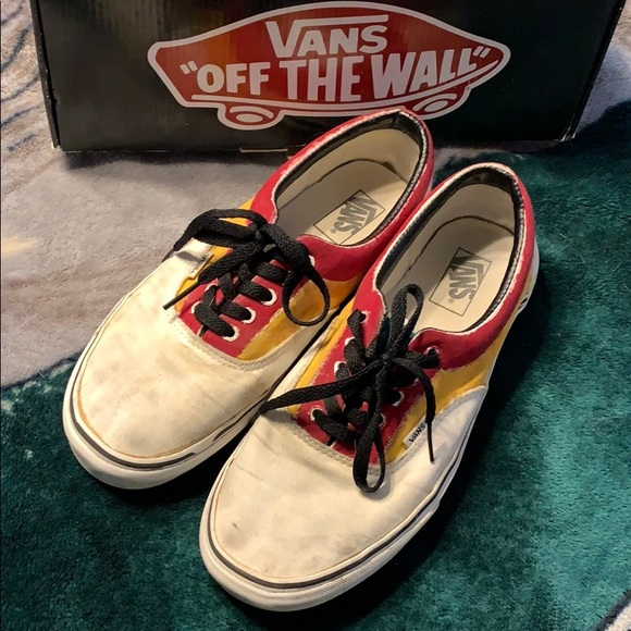Vans Other - Vans Era White and custom painted size 11